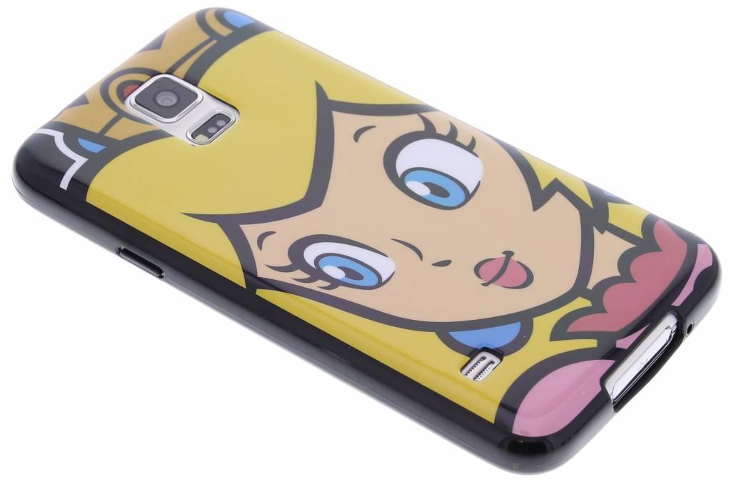 Super Mario Flexible TPU Case voor de Samsung Galaxy S5 (Plus) / Neo - Peach