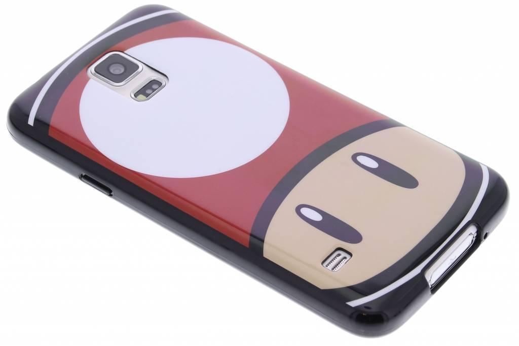 Super Mario Flexible TPU Case voor de Samsung Galaxy S5 (Plus) / Neo - Mushroom