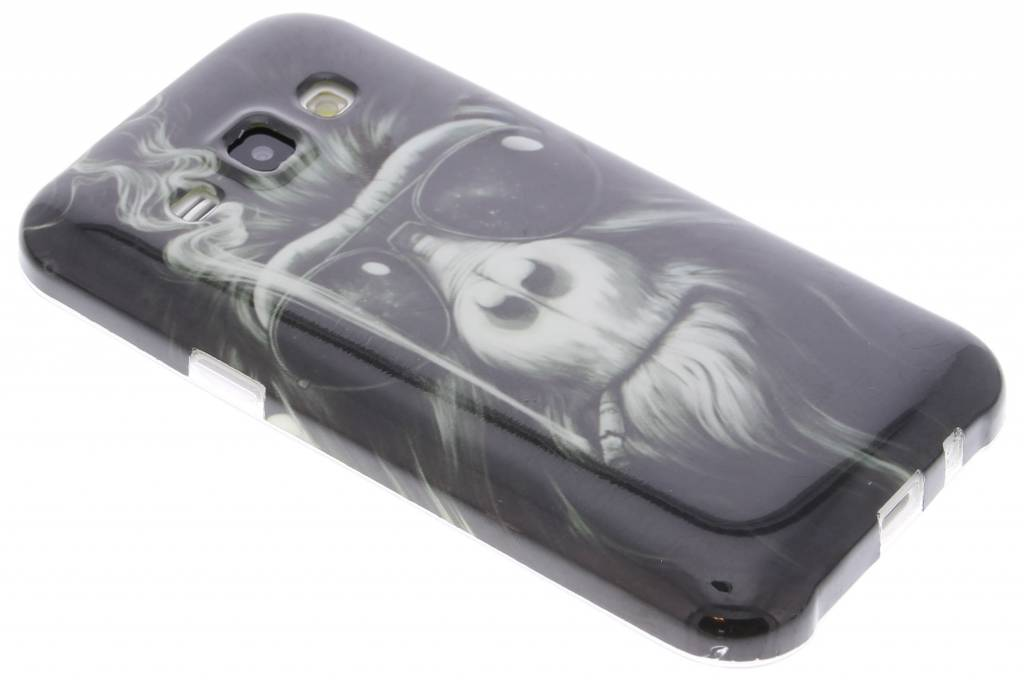 Smoking monkey design TPU siliconen hoesje voor de Samsung Galaxy J1