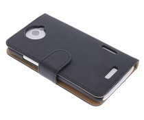 Zwart booktype hoes HTC One X (Plus)