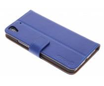 Selencia Luxe lederen Booktype Huawei Y6 – Blauw