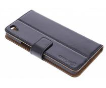 Selencia Luxe lederen booktype OnePlus X - Zwart