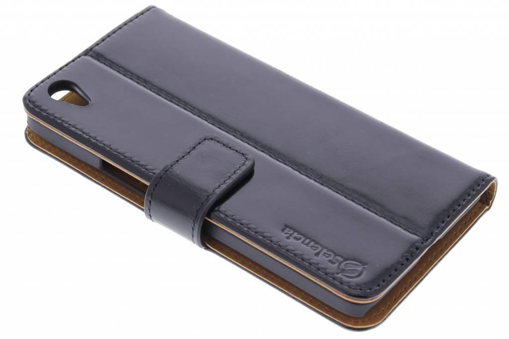 Selencia Luxe lederen booktype voor de OnePlus X - Zwart