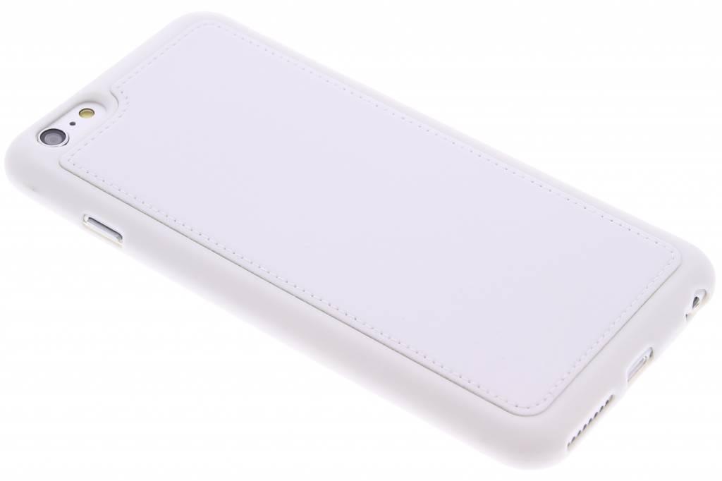 Wit lederen TPU case voor de iPhone 6(s) Plus
