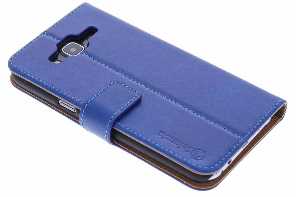Selencia Luxe lederen Booktype voor de Samsung Galaxy J5 - Blauw