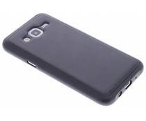 Zwart lederen TPU case Samsung Galaxy J5