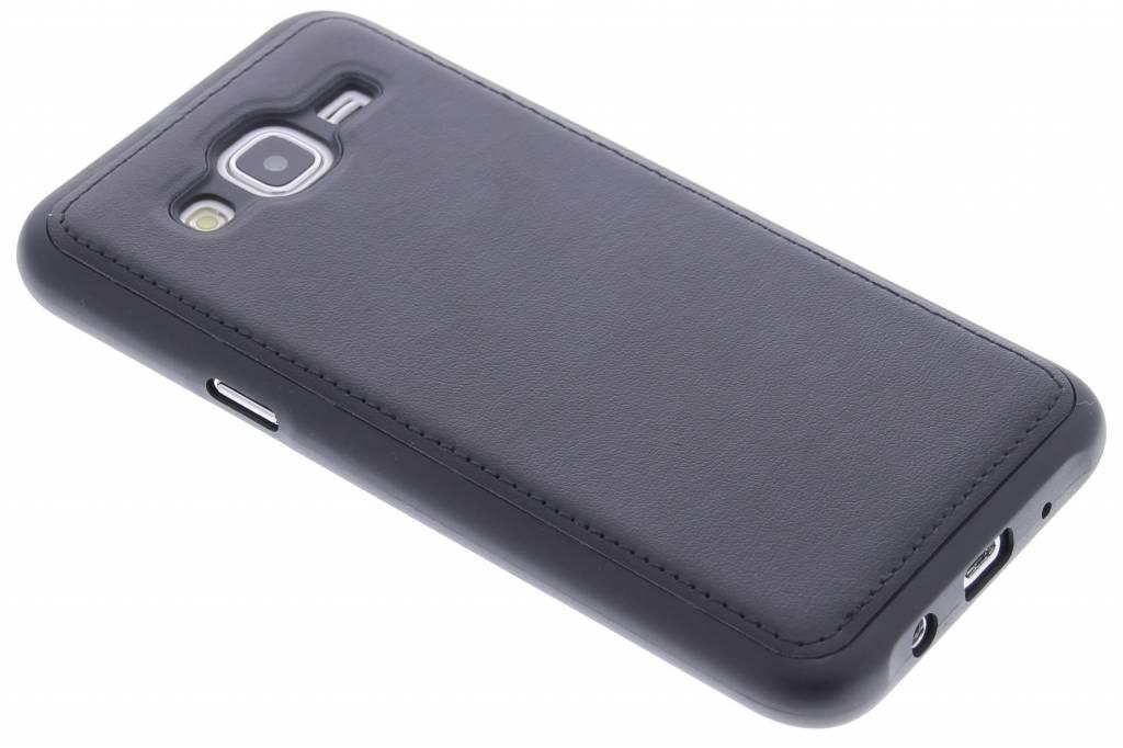 Zwart lederen TPU case voor de Samsung Galaxy J5