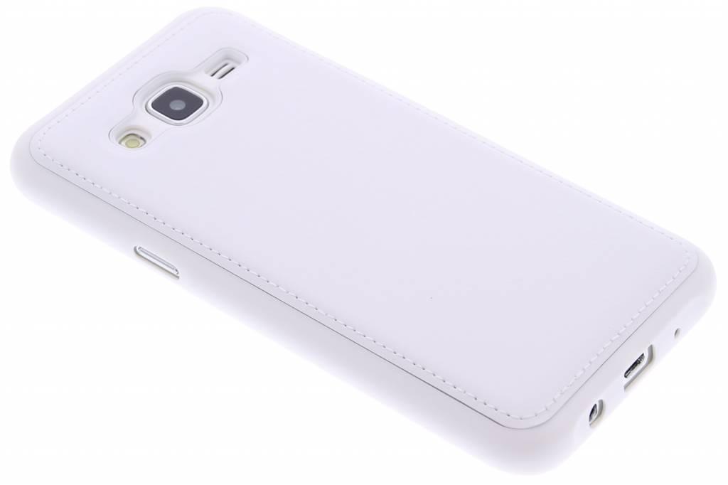 Wit lederen TPU case voor de Samsung Galaxy J5