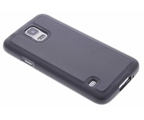 Zwart lederen TPU case Galaxy S5 (Plus) / Neo