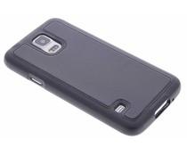 Zwart lederen TPU case Galaxy S5 (Plus) / Neo