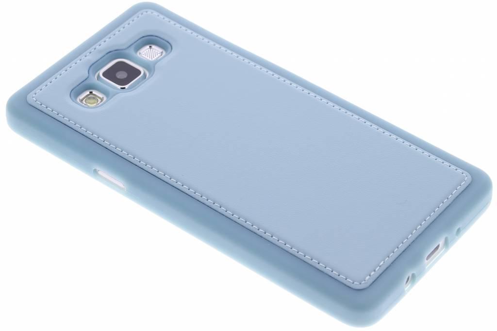 Blauw lederen TPU case voor de Samsung Galaxy A5