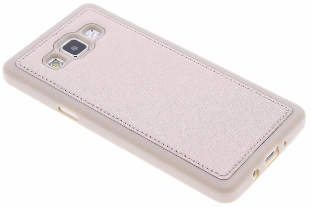 Goud metallic lederen TPU case voor de Samsung Galaxy A5