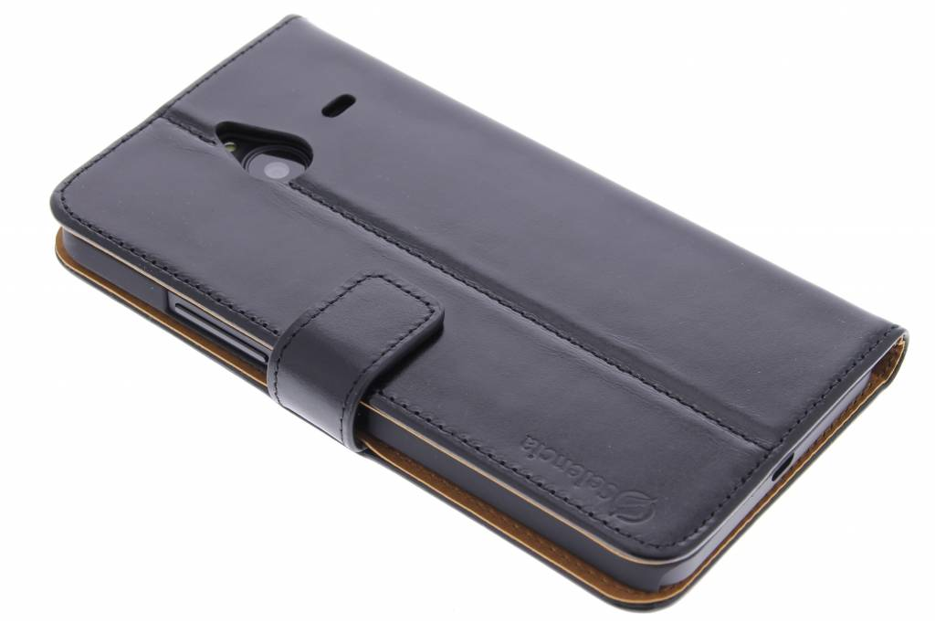 Selencia Luxe lederen booktype voor de Microsoft Lumia 640 XL - Zwart