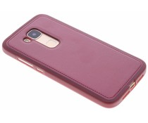 Rood metallic lederen TPU case Huawei G8