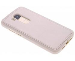 Goud metallic lederen TPU case Huawei G8