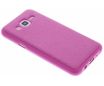 Fuchsia metallic lederen TPU case Samsung Galaxy J5
