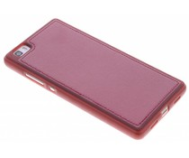 Rood lederen TPU case Huawei P8 Lite