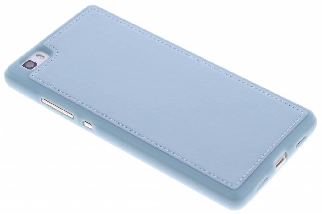 Blauwe lederen TPU case voor de Huawei P8 Lite