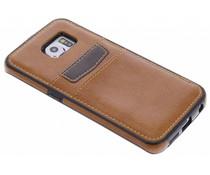 Lederen backcover met vakjes Samsung Galaxy S6 Edge