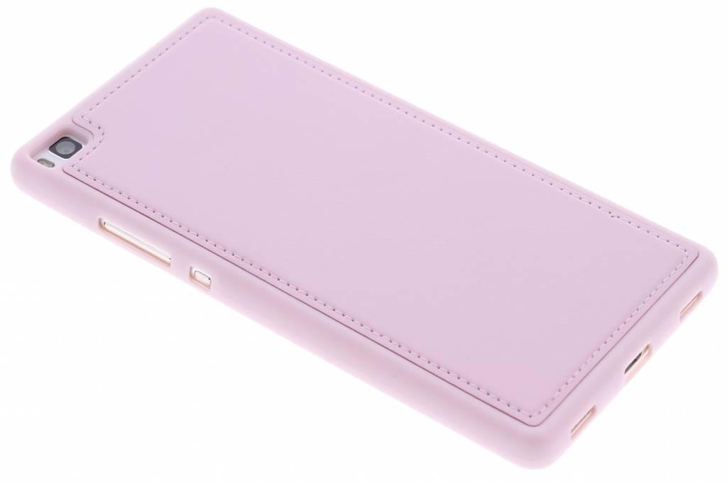 Roze lederen TPU case voor de Huawei P8