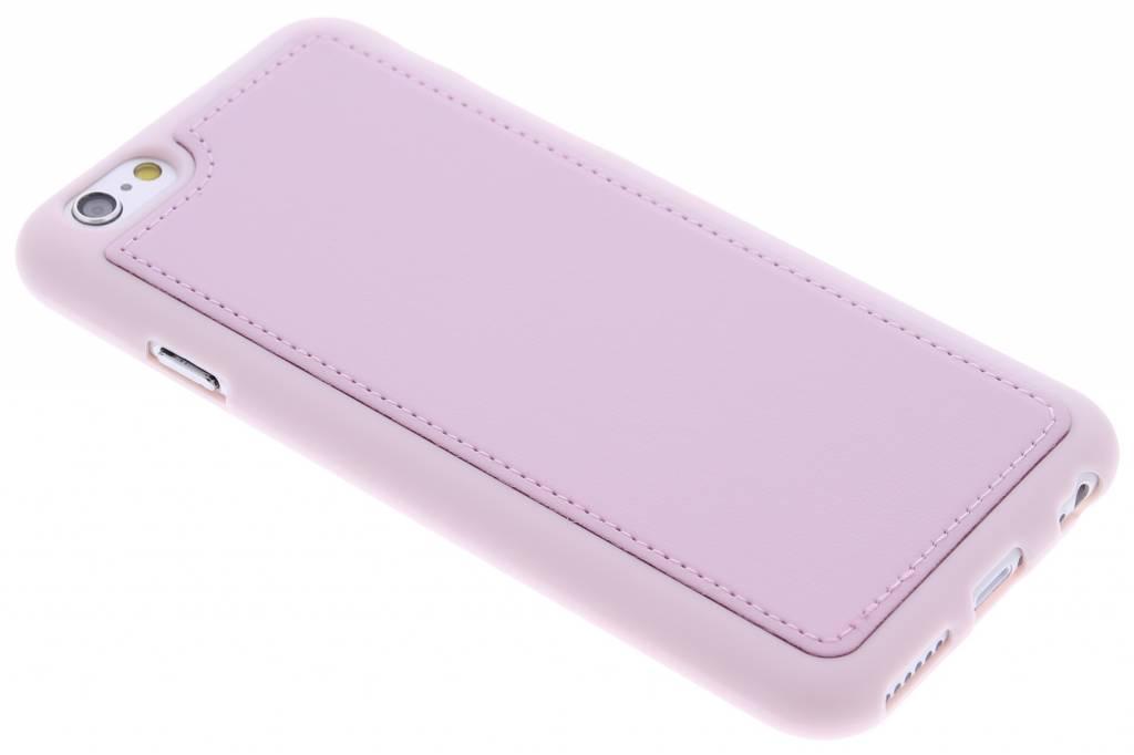 Roze lederen TPU case voor de iPhone 6 / 6s