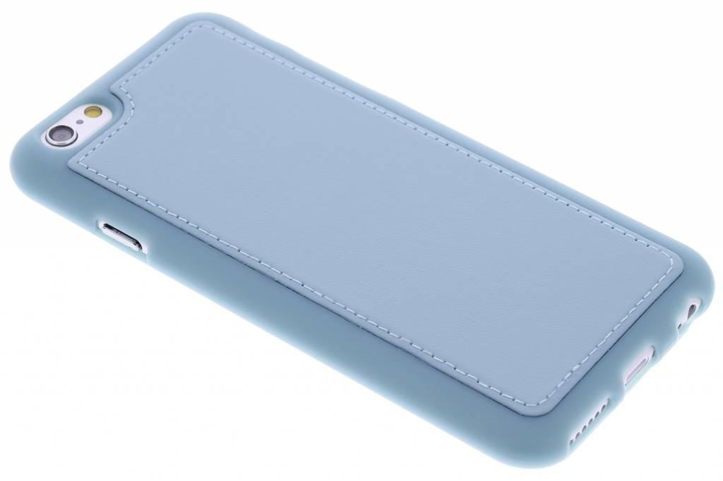 Blauwe lederen TPU case voor de iPhone 6 / 6s