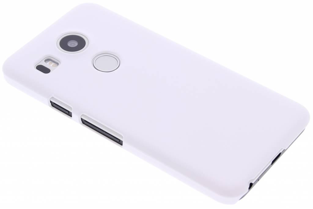 Wit effen hardcase hoesje voor de LG Nexus 5X