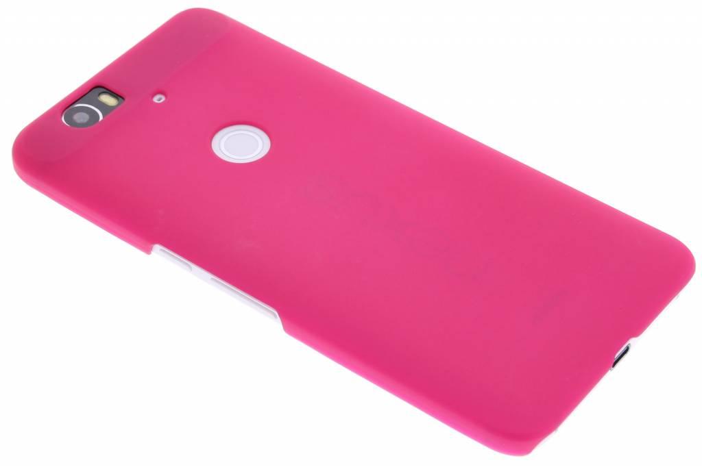 Fuchsia effen hardcase hoesje voor de Huawei Nexus 6P