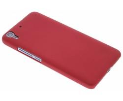 Rood effen hardcase hoesje Huawei Y6
