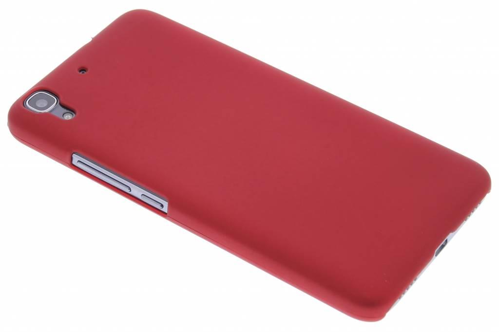 Rood effen hardcase hoesje voor de Huawei Y6