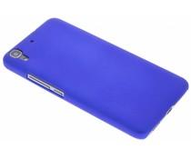 Blauw effen hardcase hoesje Huawei Y6
