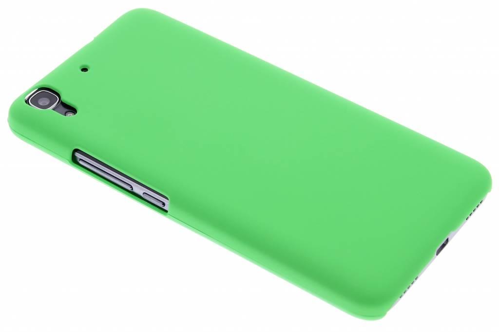 Groen effen hardcase hoesje voor de Huawei Y6