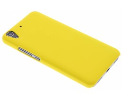 Geel effen hardcase hoesje Huawei Y6