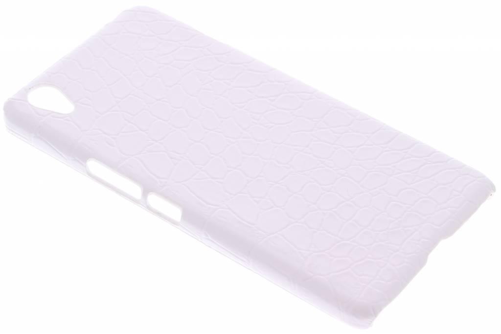 Wit krokodil design hardcase hoesje voor de OnePlus X