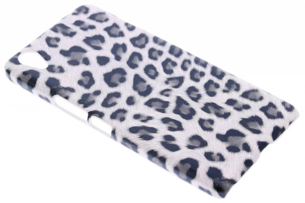 Grijs luipaard design hardcase hoesje voor de OnePlus X