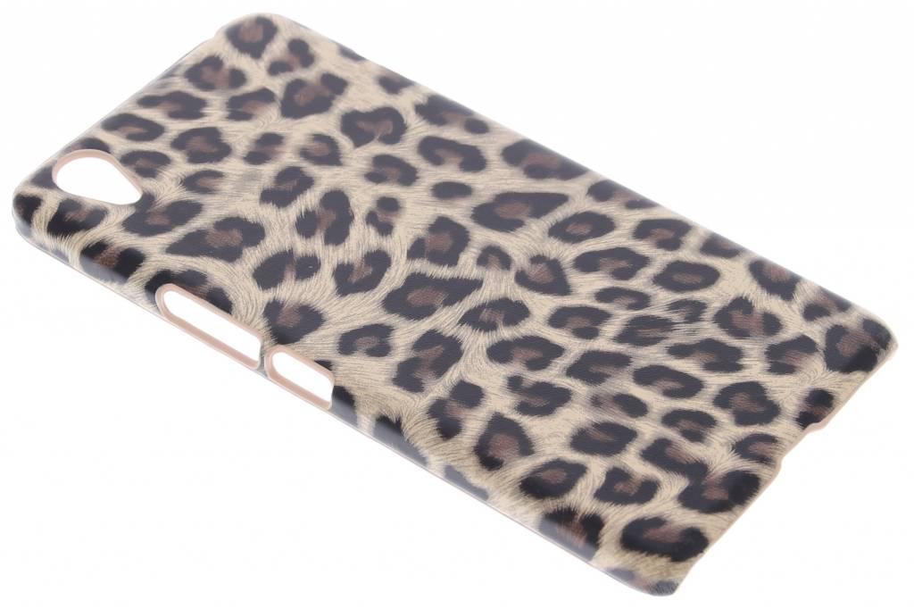 Bruin luipaard design hardcase hoesje voor de OnePlus X