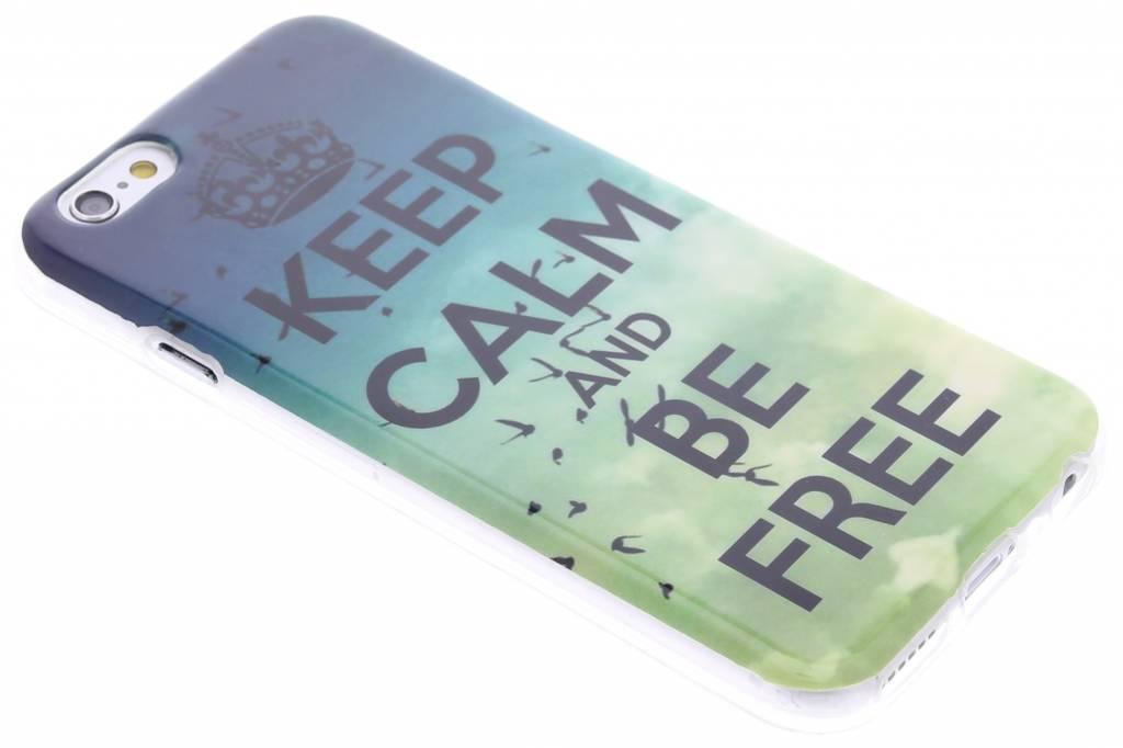 Keep calm design TPU siliconen hoesje voor de iPhone 6 / 6s