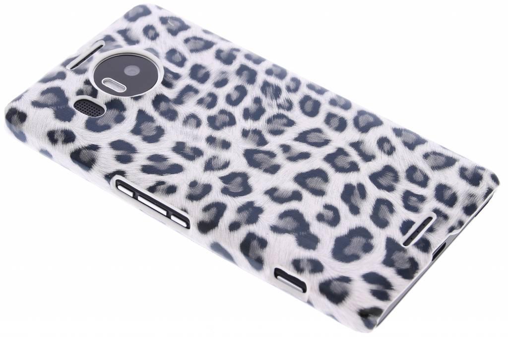 Grijs luipaard design hardcase hoesje voor de Microsoft Lumia 950 XL