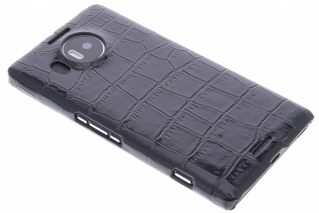 Zwart krokodil design hardcase hoesje voor de Microsoft Lumia 950 XL