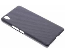 Zwart carbon look hardcase hoesje OnePlus X