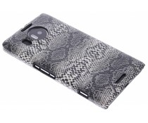 Zwart slangen design hardcase hoesje Microsoft Lumia 950 XL