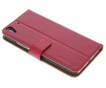 Selencia Luxe lederen Booktype Huawei Y6 – Rood