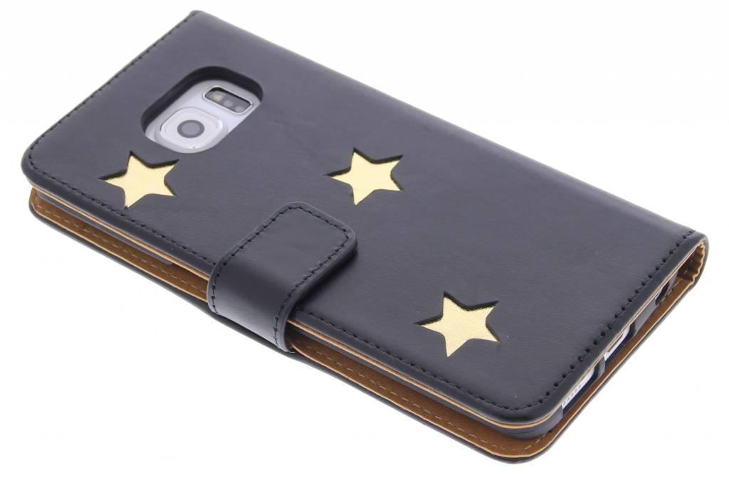 Fab. Gold Reversed Star Booktype voor de Samsung Galaxy S6 Edge Plus