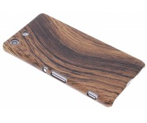 Hout design hardcase hoesje Sony Xperia M5