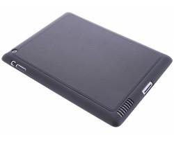 Zwart lederen TPU tablethoes iPad 2 / 3 / 4