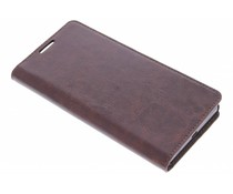 Donkerbruin zakelijke booktype hoes Sony Xperia Z5