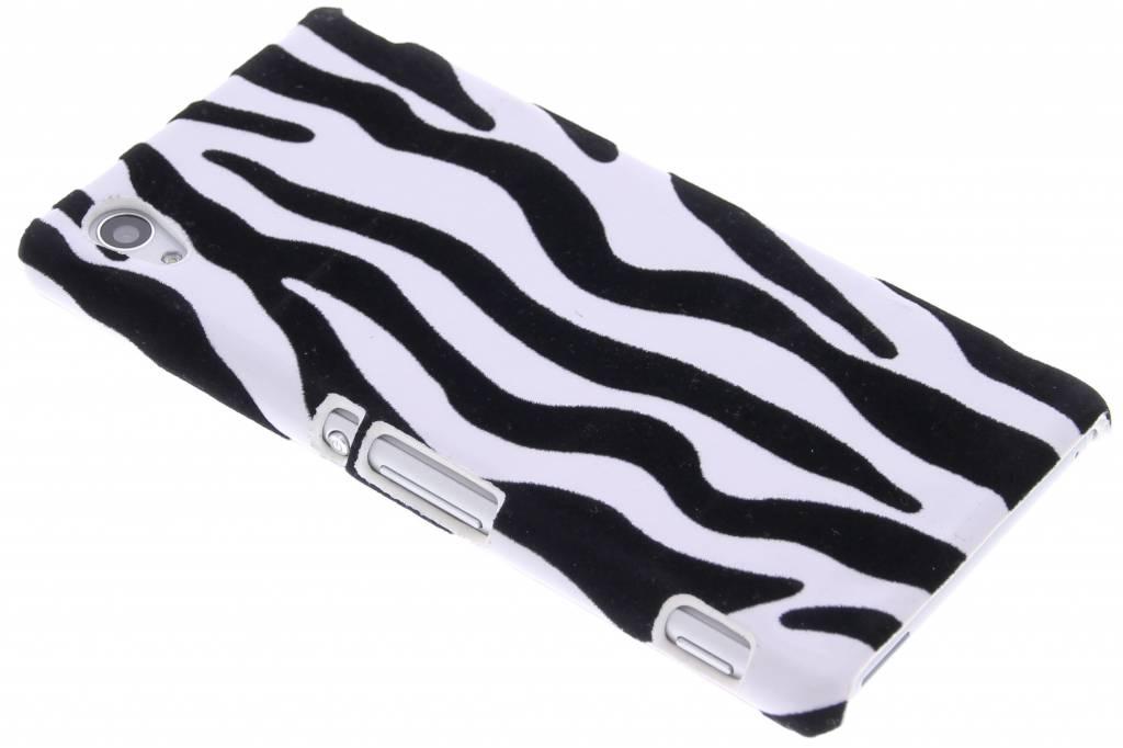 Zebra flock hardcase hoesje voor de Sony Xperia M4 Aqua