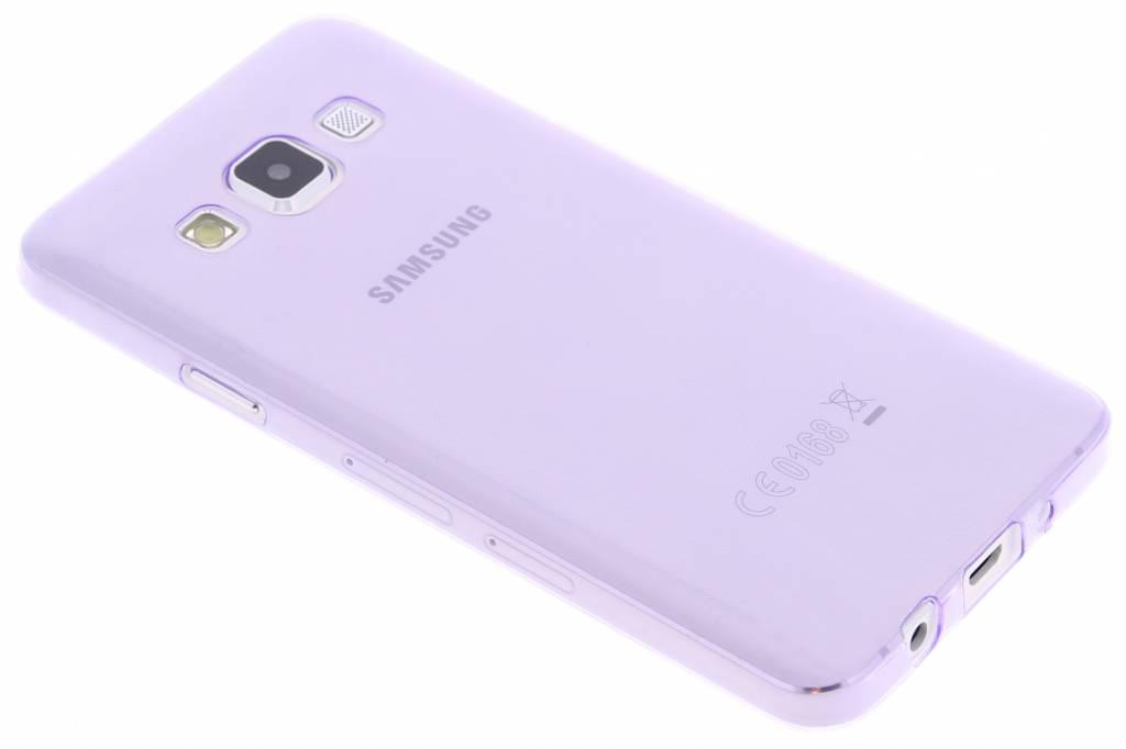 Paars ultra thin transparant TPU hoesje voor de Samsung Galaxy A3