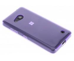 Paars transparant gel case Microsoft Lumia 550