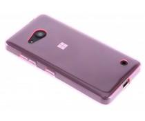 Roze transparant gel case Microsoft Lumia 550